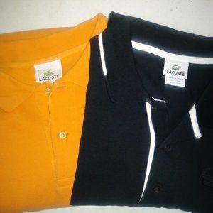 Lot of 2 Lacoste Polo Shirts Size 9 XXL
